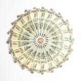 Ny indier 500 rupier sedlar och mynt royaltyfri bild