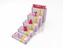 Ny indisk valuta med SKATT stock illustrationer