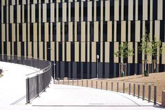Ny infrastruktur på den kommersiella byggnaden Fotografering för Bildbyråer