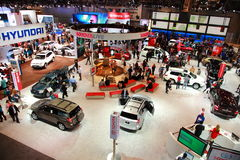 NY International Auto Show. Crowds and Automotive Manufacturers assemble for the NY International Auto Show at Javits Convention Center in New York City Stock Photography