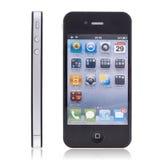 ny iphone för 4 äpple Arkivbild