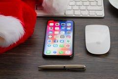 Ny iPhone X Fotografering för Bildbyråer