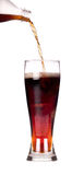 ny isolerad färgstänk för cola Royaltyfri Fotografi