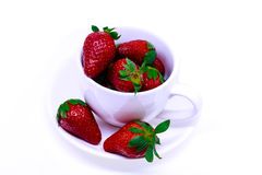 ny isolerad jordgubbe Arkivfoto