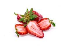 ny isolerad jordgubbe Fotografering för Bildbyråer