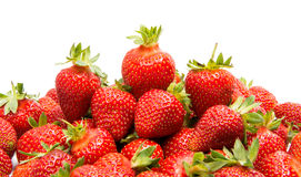 ny isolerad jordgubbe Arkivfoton