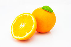 ny isolerad orange white för bakgrund Fotografering för Bildbyråer