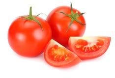 ny isolerad tomatwhite för bakgrund close upp arkivbild