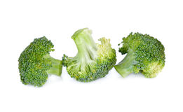 ny isolerad white för bakgrundsbroccoli Royaltyfria Foton