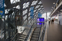 Ny järnvägsstation i Poznan Arkivfoto