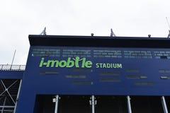 Ny Jag-mobil stadion i Buriram, Thailand Fotografering för Bildbyråer