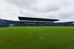 Ny Jag-mobil stadion i Buriram, Thailand Arkivfoto