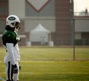 NY Jets Cornerback watches training Stock Photography