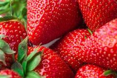 ny jordgubbe för bakgrund Moget i närbild Royaltyfri Foto