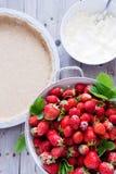 ny jordgubbe för cake Royaltyfria Foton
