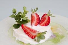 ny jordgubbe för efterrätt Royaltyfri Fotografi