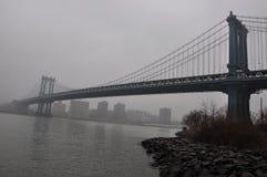 Ny Jork Manhattan bro Arkivfoton