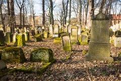 Ny judisk kyrkogård i den historiska judiska grannskapen av Kazimierz Arkivbilder