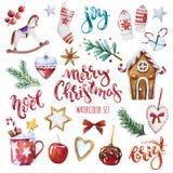 Ny juluppsättning royaltyfri illustrationer