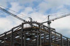 Ny köpcentrum under konstruktion Arkivbild