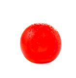 Ny körsbärsröd tomat som isoleras på vit Fotografering för Bildbyråer