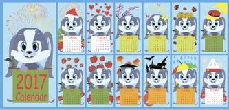 Ny kalender 2017 Royaltyfri Fotografi