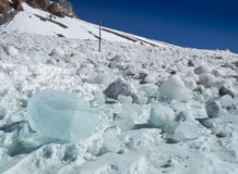 Ny kall isvinter Arkivfoto