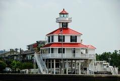 Ny kanalfyr sjö Pontchartrain Louisiana, USA arkivfoton