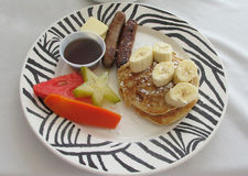 Ny karibisk frukost Arkivfoto