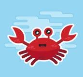 Ny krabba med skarp mat Royaltyfri Illustrationer
