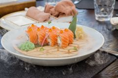 Ny kyld sushi Arkivbilder