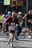 ny löpare york för stadsingmaraton Royaltyfri Bild