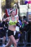 ny löpare york för stadsingmaraton Arkivfoto