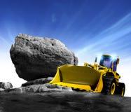 ny lastbil för konstruktion Royaltyfria Bilder
