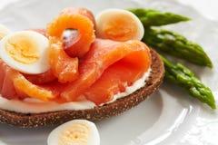 ny laxsmörgås Royaltyfria Foton