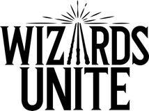 Ny lek f?r Harry Potter Wizards Unite logo fr?n niantic vektor illustrationer