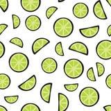 Ny limefrukt för skivor på den vita bakgrundsmodellen Royaltyfria Bilder