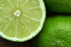 Ny limefruktmakro Fotografering för Bildbyråer