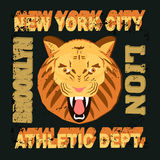 Ny lion vector illustration