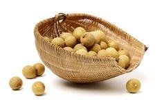 Ny Longan - thailändsk frukt arkivfoton