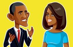 NY, los E.E.U.U., el 24 de enero, Barack y Michelle Obama Vector Caricature stock de ilustración