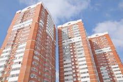 Ny lyxig Residental byggnad fotografering för bildbyråer