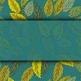 Ny mall för ram för sidor för grönt gräs för vår med att krulla för pappersdesign för tomt ark illustrationen för vektor royaltyfri illustrationer