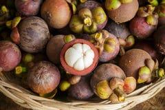 Ny mangosteenfrukt Arkivfoton