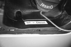 Ny markering B7 för EU-bränsle 2 royaltyfri fotografi