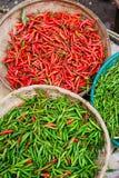 ny marknad för chilir Arkivfoton