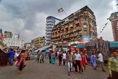 Ny marknad: Kolkataâs berömdt shoppingnav Arkivbild