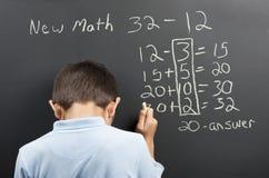 Ny matematikfrustration Fotografering för Bildbyråer
