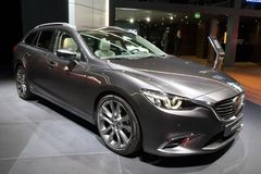Ny Mazda 6 bil Arkivfoto