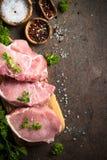 Ny Meat rå steak för pork arkivfoton